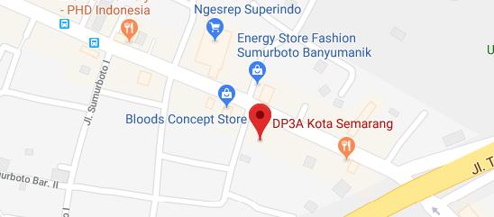 Peta Lokasi DP3A Kota Semarang